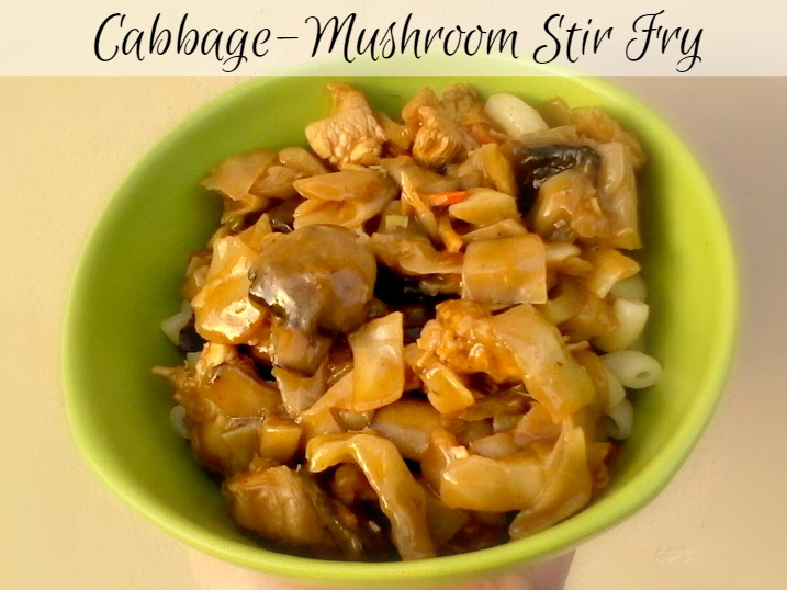 Cabbage-Mushroom Stir Fry