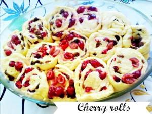 Cherry rolls - Anna Can Do It!