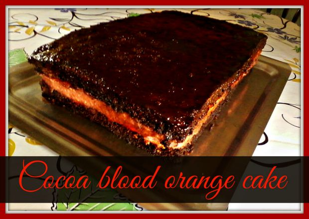 Cocoa blood orange cake