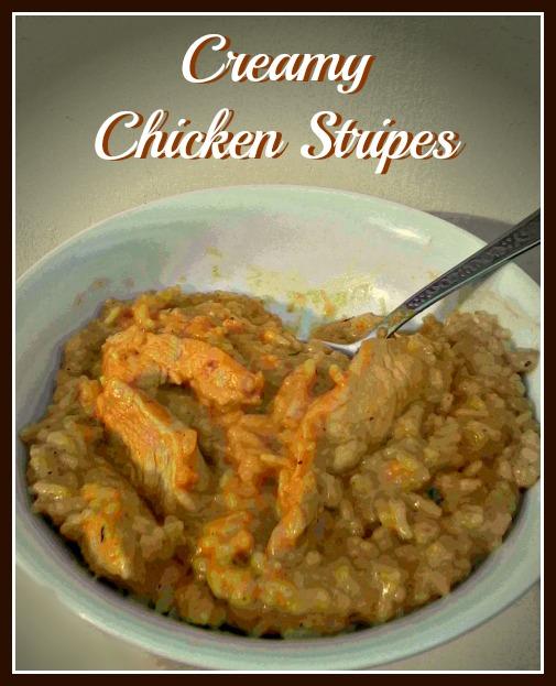 Creamy Chicken Stripes - Anna Can Do It!