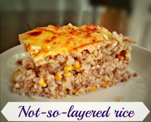 Not-so-layered rice - Anna Can Do It!