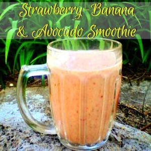 Strawberry-Banana & Avocado Smoothie - Anna Can Do It!