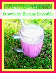Strawberry Banana Smoothie - Anna Can Do It!