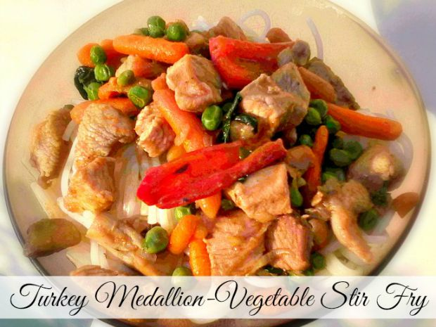 Turkey Medallion-Vegetable Stir Fry - Anna Can Do It!