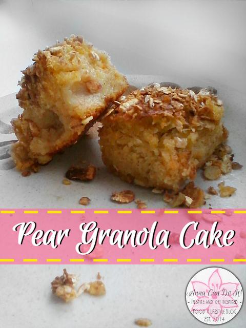 Pear Granola Cake - Anna Can Do It!