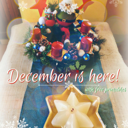 December is here with free printables