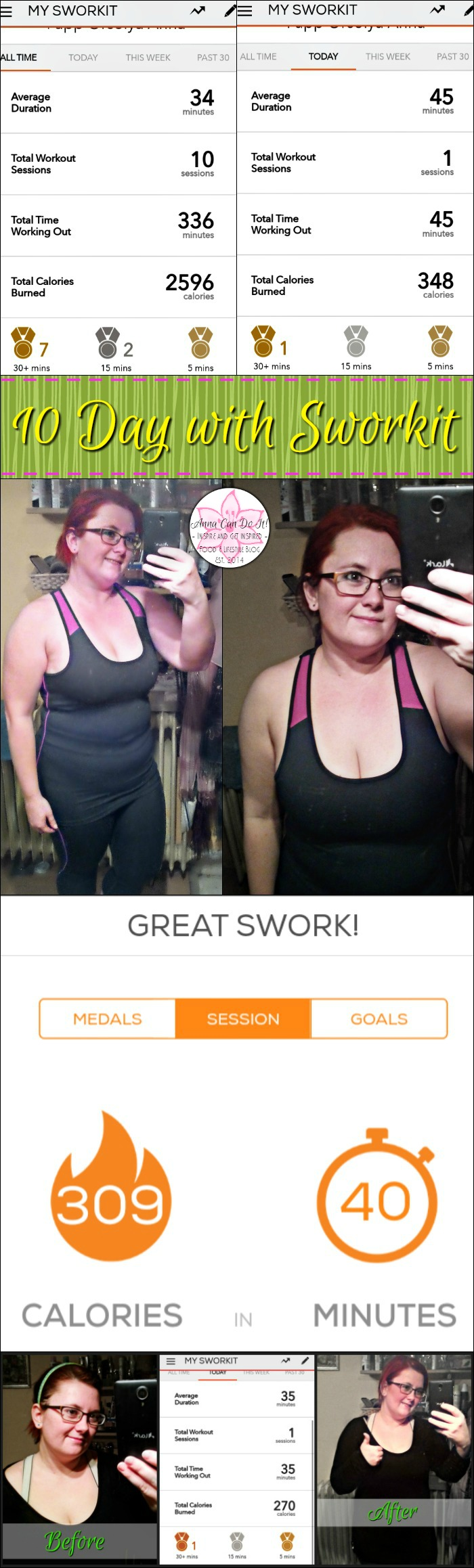 10 day with Sworkit