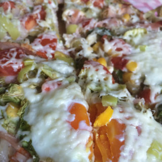 Spring Pizza with Eggs