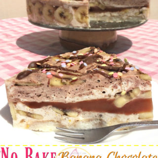 No Bake Banana Chocolate Yoghurt Pie