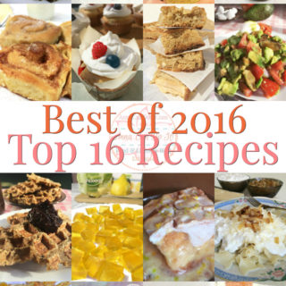 Best of 2016 – Top 16 Recipes
