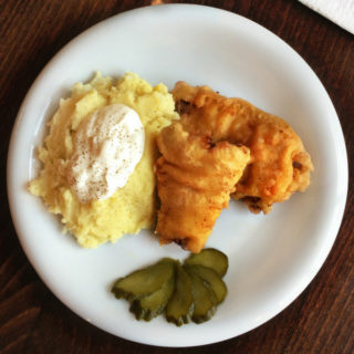 Crispy Fried Fish with Creamy Mashed Potatoes