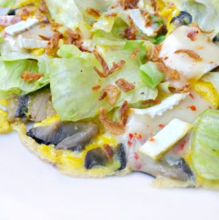 Mushroom, Lettuce & Ham Frittata - Anna Can Do It!