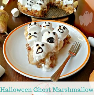 Halloween Ghost Marshmallow Apple Pear Pie