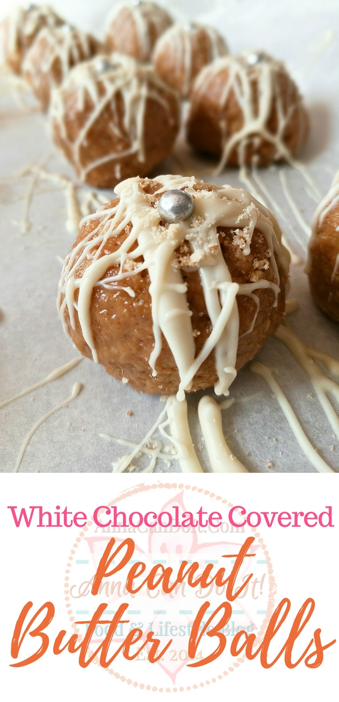 White Chocolate Covered Peanut Butter Balls - Anna Can Do It!