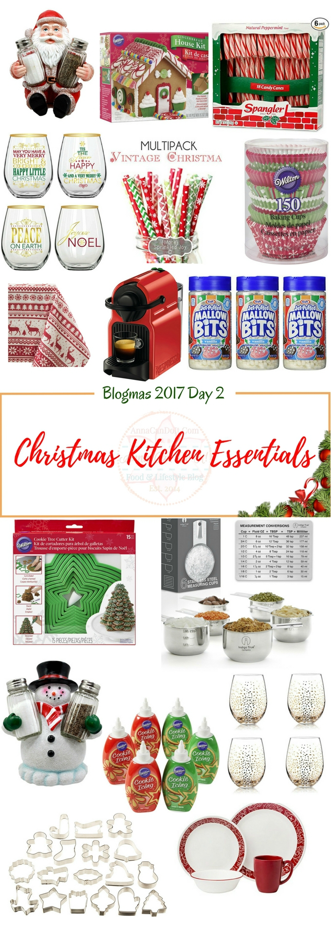 Christmas Kitchen Essentials - Blogmas 2017 Day 2 - Anna Can Do It!