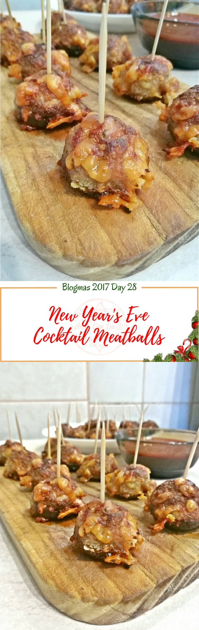 New Year's Eve Cocktail Meatballs - Blogmas 2017 Day 28 - Anna Can Do It!