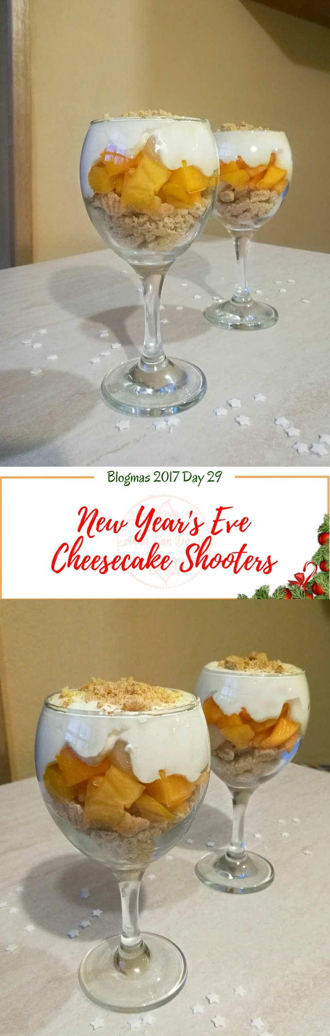 New Year's Eve Cheesecake Shooters - Blogmas 2017 Day 29 - Anna Can Do It!