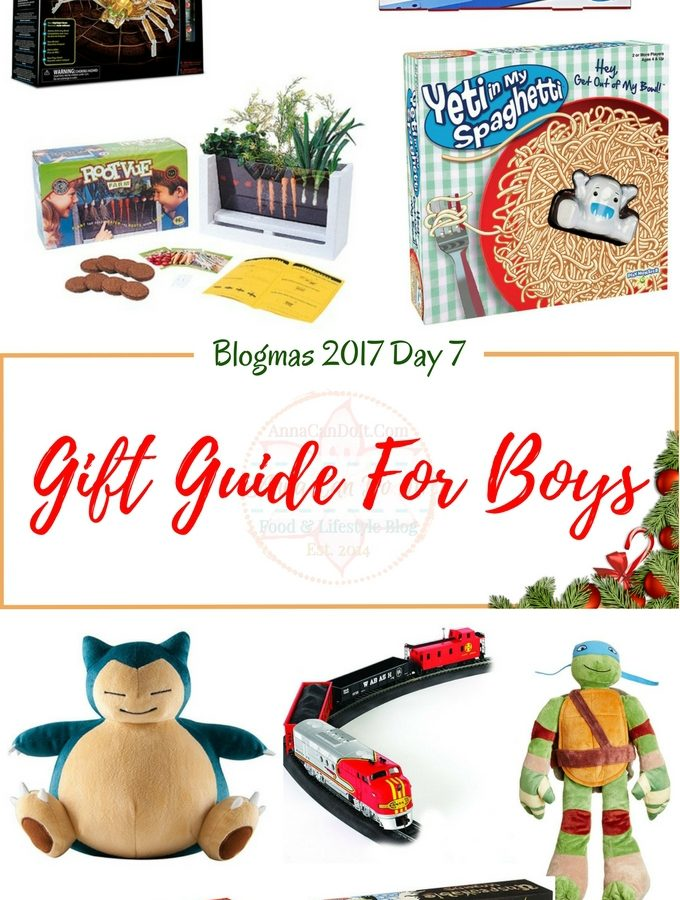 Gift Guide For Boys - Blogmas 2017 Day 7 - Anna Can Do It!