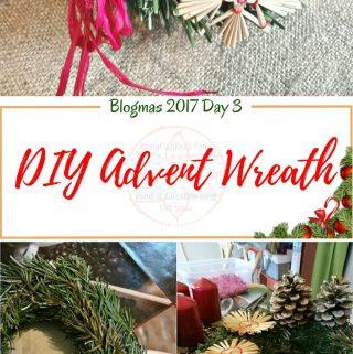 DIY Advent Wreath – Blogmas 2017 Day 3