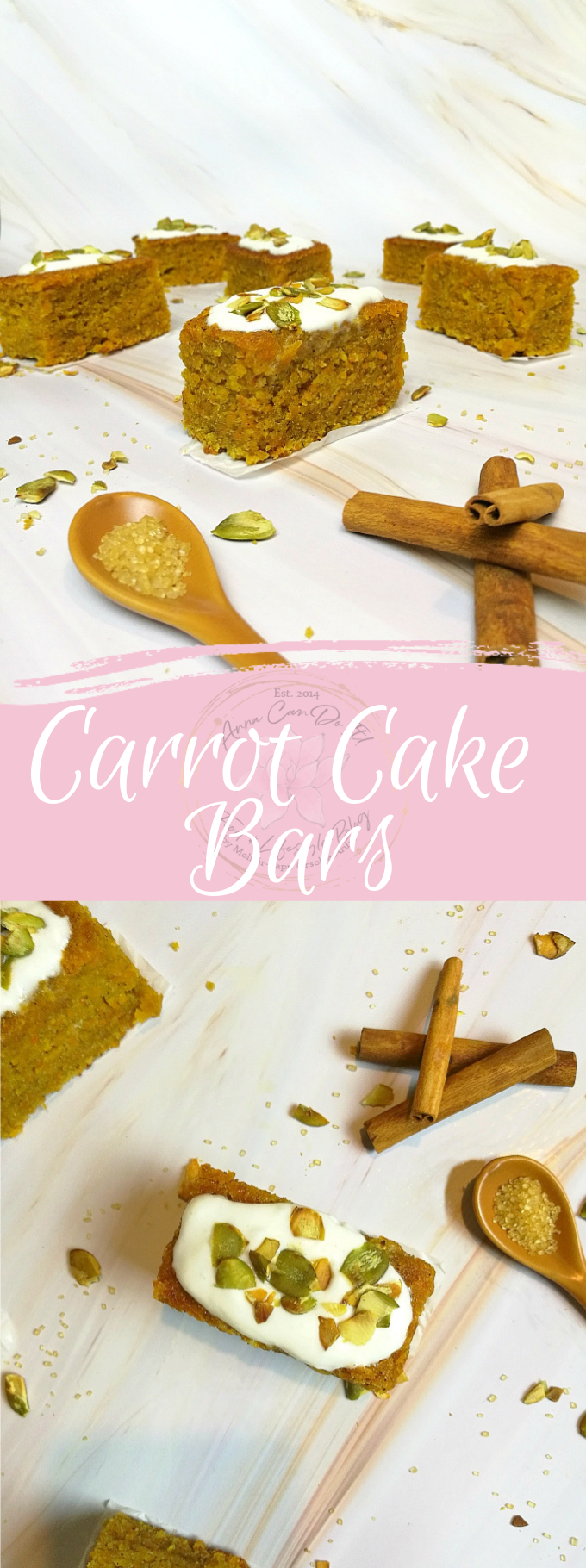 Carrot Cake Bars - Anna Can Do It!