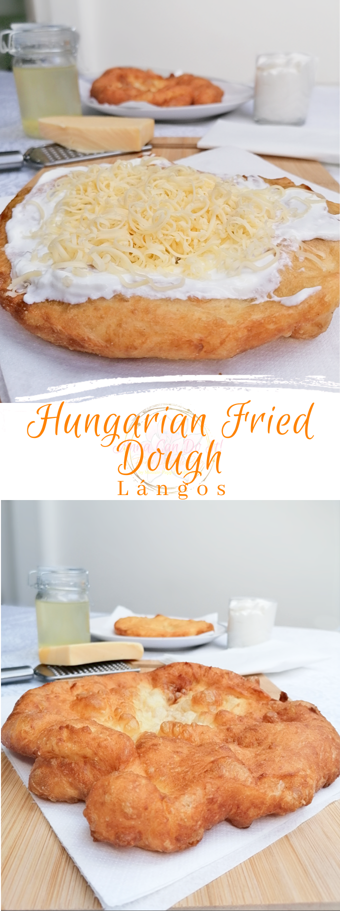 Hungarian Fried Dough - Lángos - Anna Can Do It!