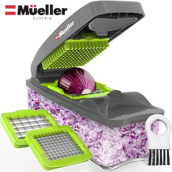 Mueller Austria Onion Chopper Pro Vegetable Chopper - Strongest - 30% Heavier Duty Multi Vegetable-Fruit-Chopper-Kitchen Cutter