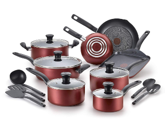 T-fal B209SI Initiatives Nonstick Inside and Out Dishwasher Safe Oven Safe Cookware Set
