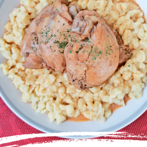Hungarian Chicken Paprikash - Paprikás Csirke - Anna Can Do It!