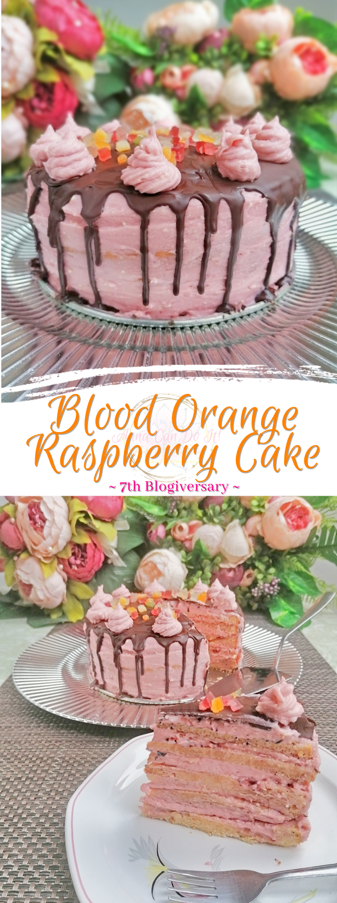 Blood Orange Raspberry Cake - Anna Can Do It!