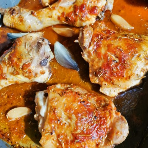 Oven Baked Chicken Thighs - Anna Can Do It!